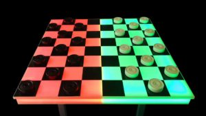 Giant LED Checkers