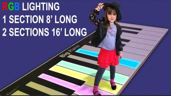 big walk-on piano with LED Lights