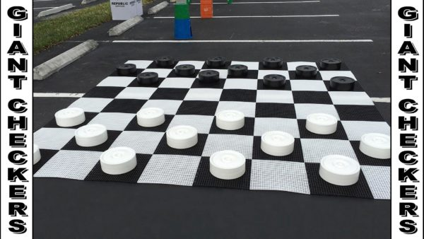 Giant life size Checkers