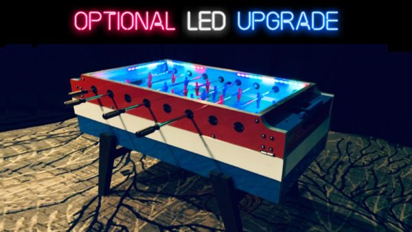 Foosball Arcade Table with LED Lights