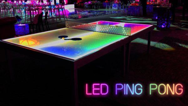 LED Ping Pong Regulation Size