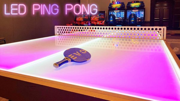 orlando arcade game rentals and LED Ping Pong in Florida