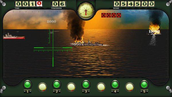 SeaWolf Submarine Arcade Game Screenshot