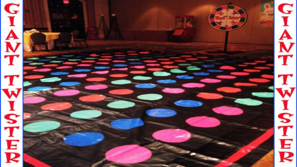 Giant Twister Mat and Twister Wheel