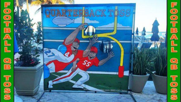 football quarterback toss throwing game in orlando florida