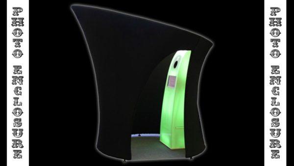 Black spandex fabric enclosure