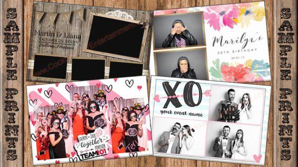 sample photo booth print designs