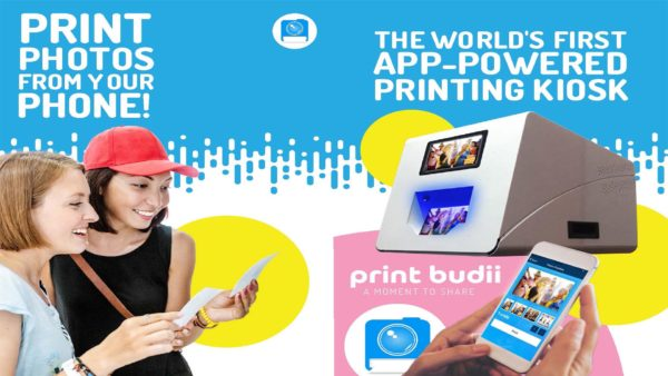 Print Budii photo booth in Orlando, Florida lets guests print photos from their phone