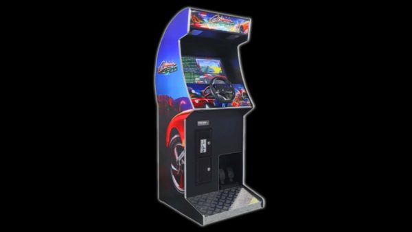 racing driving arcade machine