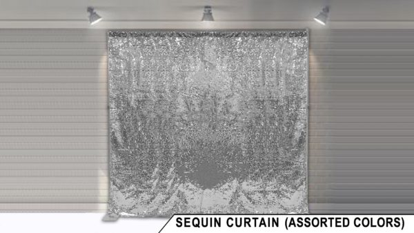 sequin backdrop display for photo booth rental