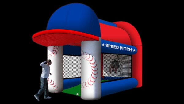 baseball speed pitch inflatable game