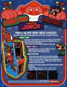 Mario Brothers Arcade Game Brochure