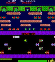 frogger arcade screen shot